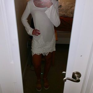 OU ivory lace shift dress